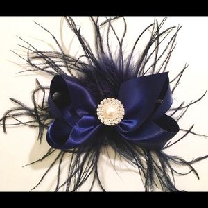 Other - Feather Hair Bows All Colors